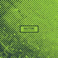 halftone in green background