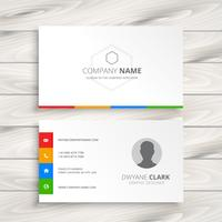 clean white business card template vector design illustration