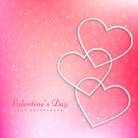 valentines heart in beautiful pink background vector design illu