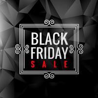 black friday sale label in dark