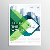 Diseño elegante de la plantilla del prospecto de la presentación del folleto con verde