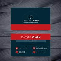 clean dark modern business card template design