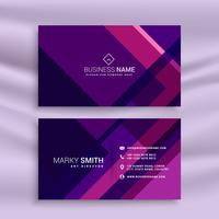 purple abstract business card template
