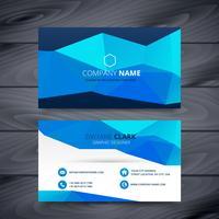 blue business card template design
