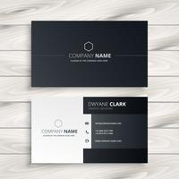 black and white business card vector design illustration