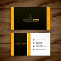 business card yellow  template vector design illustration