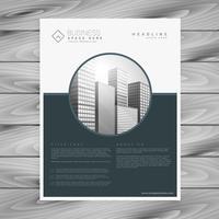 modelo de panfleto de brochura de negócios empresa