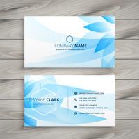 blue flower floral business card template vector design illustra