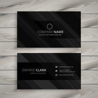 pure black dark business card template vector design illustratio