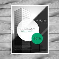 modern company flyer brochure with geometric shapes