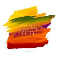 disegno vettoriale di vernice colorata brillante mano macchia