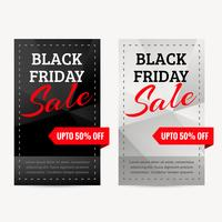 aantal zwarte vrijdag verkoop banners