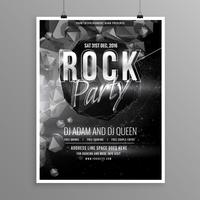 black rock music party flyer poster template