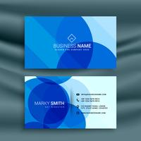 abstract blue business card design template