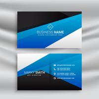 carte de visite bleue design stationnaire pour l'identité de la marque
