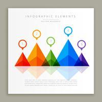 abstrakt färgrik infografisk mall