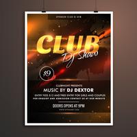 club part promotional template with event details