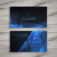 abstract dark business card template vector design illustration