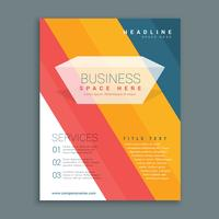 colorful stripes business brochure flyer design in A4 size