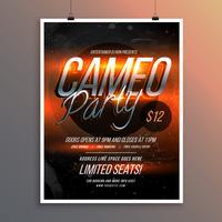 modelo de banner brilhante panfleto para convite de festa de música