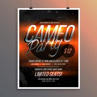 shiny flyer banner template for party music invitation