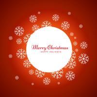 Weihnachtsschneeflockenentwurf