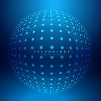 dots sphere circlular mesh vector design illustration