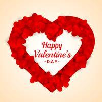 Marco de corazón para ilustración de diseño de vector de día de San Valentín