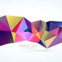 formas abstractas de triángulos de colores