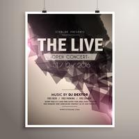 elegrant live concert music flyer brochure template