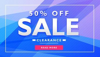 blå reklam banner affischkupong design mall