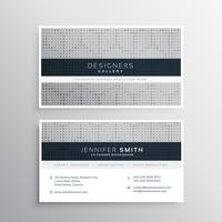 elegant gray business card design with halftone pattern