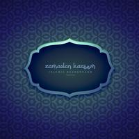 prachtige islamitische ramadan seizoen achtergrond met patroon vormen