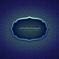 beautiful islamic ramadan season background with pattern shapes