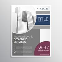 annual report business flyer design in professional style