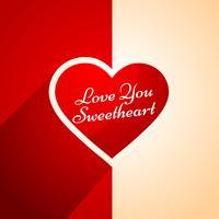 älskar dig hjärta design vektor design illustration