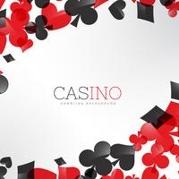 fundo de cassino com símbolos de cartas de jogar