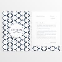 creative letterhead design with front and back sides