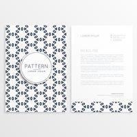 motif de papier à lettres créatif avec côtés avant et arrière