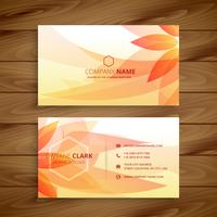 beautiful flower business card template vector design illustrati