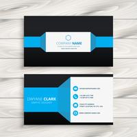 blue black business card vector design illustration