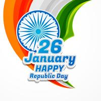 happy republic day poster vector design illustration