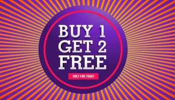 sale banner of buy one get two free offer