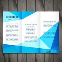 conception de vecteur de brochure à trois volets moderne