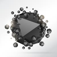 abstrait de particules de forme géométrique 3d