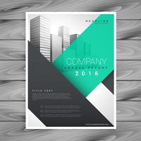 modelo de apresentação de brochura de negócio limpo moderno