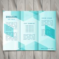 polygonal trifold brochure design illustration