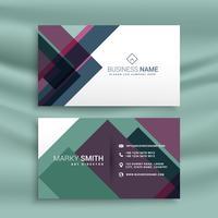 Plantilla de presentación de tarjeta de visita con forma colorida abstracta
