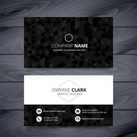 dark modern business card design template