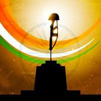 indian flag with amar jyoti vector design illustration